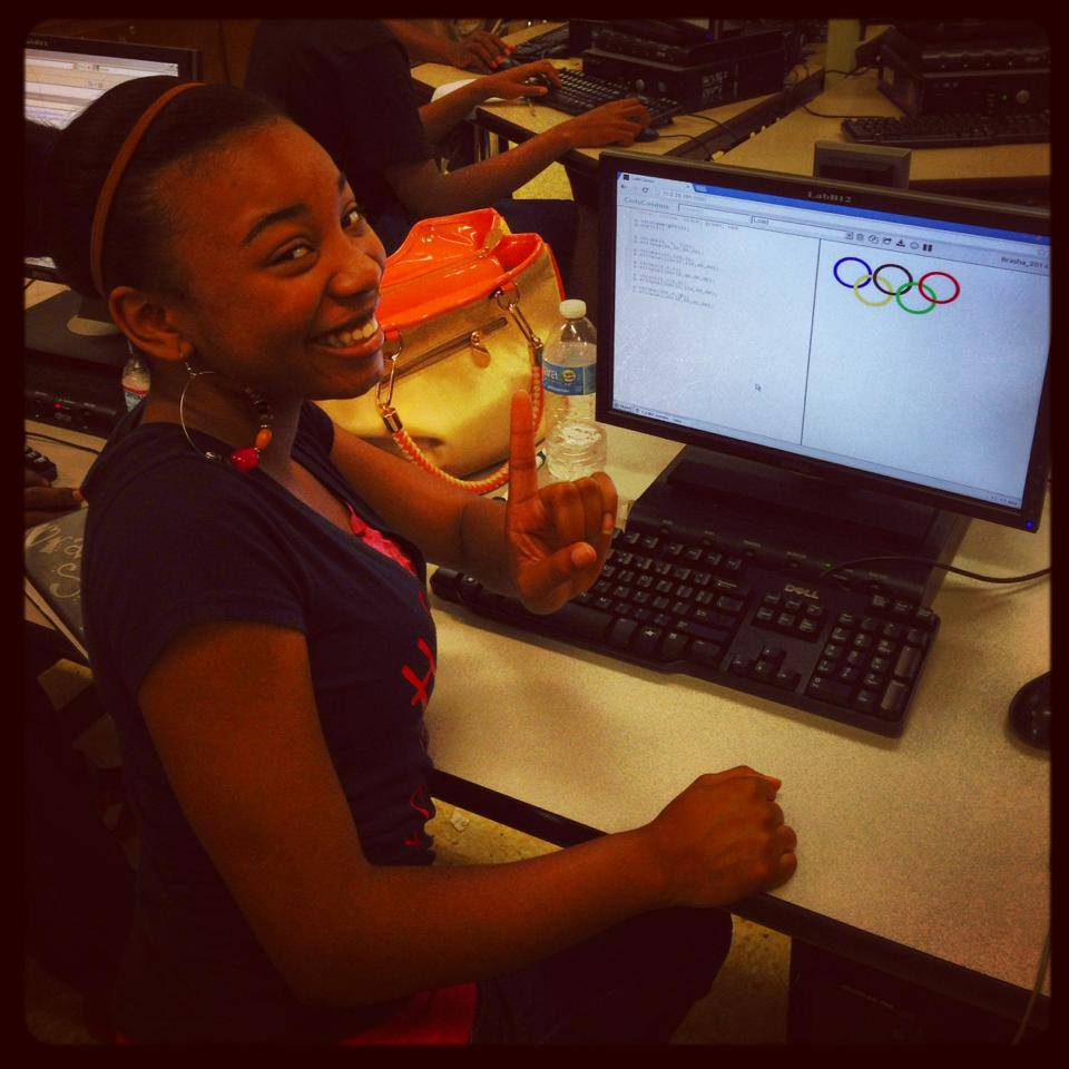 Brasha is stoked that she got the colors and pattern right for the Olympic rings