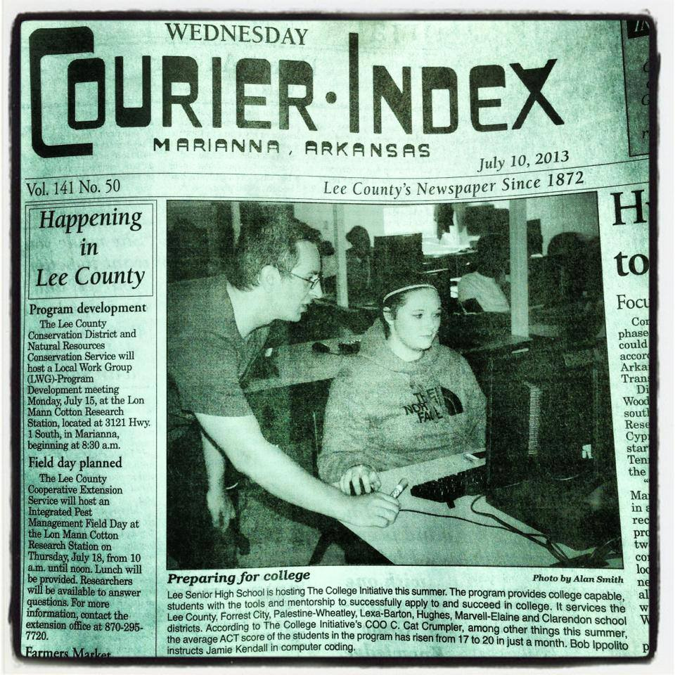 The Courier-Index front-page featuring Jamie and me